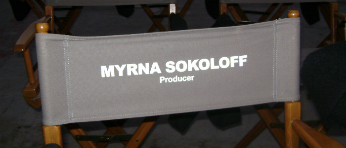 Producer's Chair on Set of American Carol