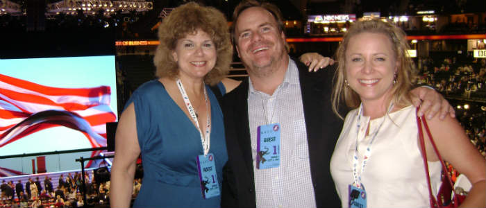 Hand of Fatima' author with Kevin Farley and Karri Turner