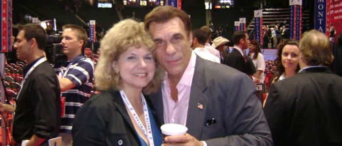 Political Thriller Writer Myrna Solokoff with Robert Davi at RNC