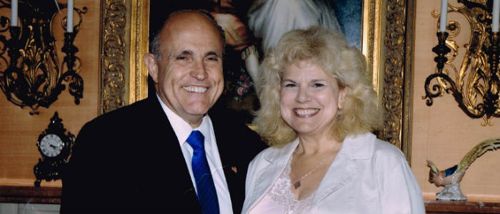 Myrna Solokoff with Rudy Guiliani